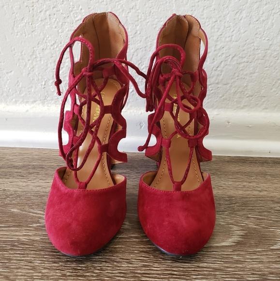 7fb2823ff5f Wine Strappy heels. M 5caf69038557af8ccbf76c03. M 5caf690e7f617fbbe53a26ff.  M 5caf6918aa7ed3715b2bcfb3. M 5caf69307a8173c8bdb8808e